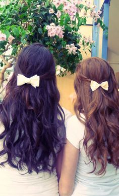 something about white bows in hair that i love