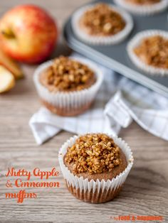 Delicious, healthy, no added sugar wholemeal muffins with apple sauce ...