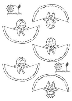 DIY Nice 3D Paper Angels for Christmas. | Oh My Fiesta! in english Christmas Tale, Swedish Christmas, Christmas Drawing, Christmas Angels, Christmas Crafts For Kids To Make, Xmas Crafts, Kids Christmas, Diy Projects Handmade, Paper Angel