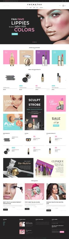 Cosmetics Store WooCommerce theme http://www.templatemonster.com/woocommerce-themes/58570.html