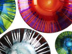 Arda glass works using old world Turkish techniques with new-world design for fun and elegant glassware. Super Platters too.
