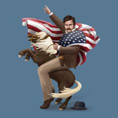 Ron Swanson Lil Sebastian Portrait Parks and Recreation T-Shirt Parks And Recreation, Parks And Recs, Lil Sebastian, Parks Department, Candle In The Wind, Verse, Best Shows Ever, Favorite Tv Shows, Favorite Things