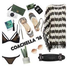 """Hot Coachella Style"" by sanddollardubai ❤ liked on Polyvore featuring Melissa Odabash, Soludos, Pierre Darré and Linda Farrow"