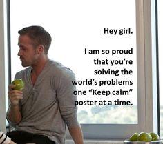 Gotta love Handmade Ryan Gosling. Thanks for this one, Olivia :)
