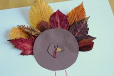 Fun leaf feathered turkeys