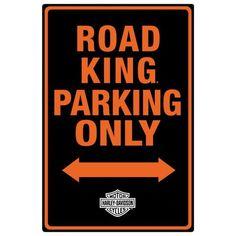 Harley Davidson Road King Parking Tin Sign