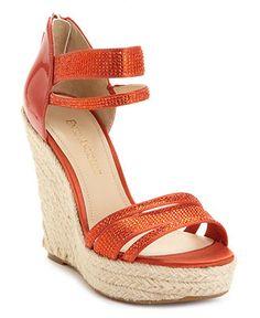 red wedge sandles