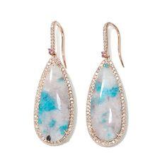 Rarities Tourmaline, Sapphire and Diamond 18K Earrings