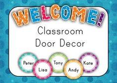 Classroom Door Decor - Back to School {FREE} Student Names Editable in Adobe Reader