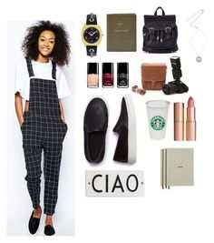 See ya by andreaher on Polyvore featuring polyvore, fashion, style, Monki, SELECTED, Sole Society, FOSSIL, Sperry Top-Sider, Charlotte Tilbury, Rosanna, HAY and Chanel