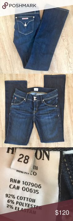 """Hudson jeans Hudson Beth Petite Bootcut Jeans. Zip fly, double button closure. Low rise (approx 8""""), inseam is approx 30.5"""". Excellent condition! They are too long for me so I don't wear them. 🌸automatically save when you bundle or make an offer using the offer button🌸 Hudson Jeans Jeans"""
