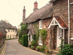 cottage in Porlock, Somerset, an enchanting little place English Village, English Cottages, British Countryside, Cozy Cottage, Urban Cottage, England Uk, Somerset England, British Isles, Places To Go