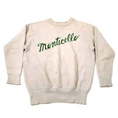 "Vintage Cars Circa double V chain stitch ""Monticello"" sweatshirt Vintage Sweaters, Vintage Tees, Vintage Photos, Vintage College Sweatshirts, Funky Shirts, Denim Shirts, Graphic Tees, Graphic Sweatshirt, T Shirt"