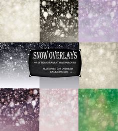 On transparent background!  Perfect!   Let it Snow Overlay for Photoshop Gently Fallen Snow Heavy Snow Boken TransparentTextures For Creatives in Photoshop Scrapbooking Hi Res Fun