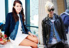 As editoras de moda Natalie Matthews e Kate Lanphear, adeptas da sobreposição/Fotos Reprodução