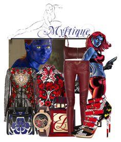 """RavenDarkholme la vilaine"" by deloysfashions ❤ liked on Polyvore featuring Dsquared2, T By Alexander Wang, Estée Lauder, Balmain, Dolce&Gabbana, Alex and Versace"