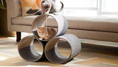 DIY Kitty Corner Cat Play House