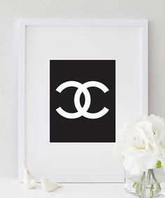 COCO CHANEL LOGO (black & white) | http://bymaria.com/collections/products