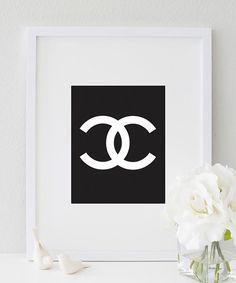 Coco Chanel CC (Black & White) #Print  http://bymaria.com/
