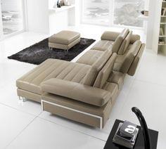 Maxdivani S. Modern Recliner Chairs, Modern Sofa, Sectional Sofa, Sofa Furniture, Furniture Design, Modern Furniture, Furniture Ideas, Cozy Sofa, Italian Sofa
