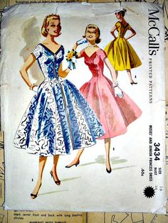 McCalls 3434 Dress Vintage Sewing Pattern by stitchingbynumbers, $16.00