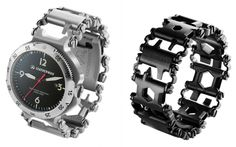 The Leatherman Tread is a tool (actually 25 of them) that will always be on your wrist. The links of this bracelet are stainless steel implements like small box wrenches and screwdrivers.