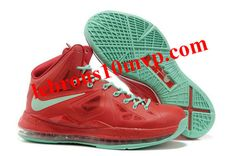 Nike Lebron 10 Varsity Red Fresh Green