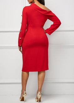 Dresses For Women Red Fashion, Women's Fashion Dresses, African Fashion, Sexy Dresses, Cute Dresses, Beautiful Dresses, Casual Dresses, Dressy Outfits, Simple Outfits