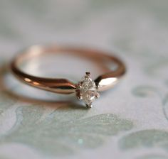 Dreamy champagne marquise engagement ring in by ceasefireheirlooms
