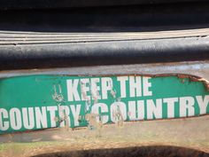 this means you, people who move to the country and build huge houses in the middle of perfectly good fields.