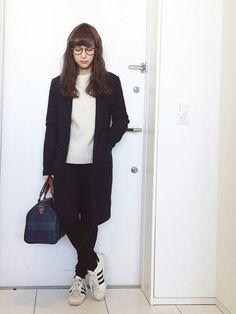 瀬戸晴加さんのメガネ「Ayame 」を使ったコーディネート