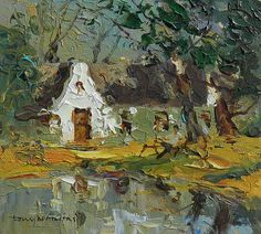 Artwork of Tony de Freitas exhibited at Robertson Art Gallery. Original art of more than 60 top South African Artists - Since Farmhouse Artwork, Canvas Painting Projects, Beautiful Nature Pictures, South African Artists, Building Art, Landscape Artwork, Art Gallery, Beautiful Paintings, Art Images