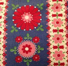 Vintage fabric sheet - Jodi Jo Retro