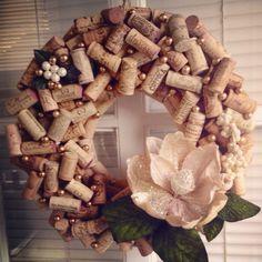 Gorgeous wine cork wreath