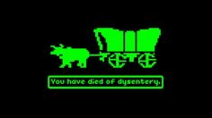Oregon trail, you have died of dysentery cross stitch pattern, diy, embroidery, game, 80s pop culture, digital download by megsinstitches on Etsy