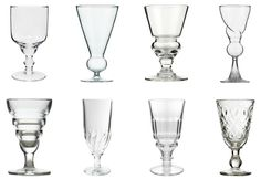 Absinthe Glasses Molded And Blown Glass