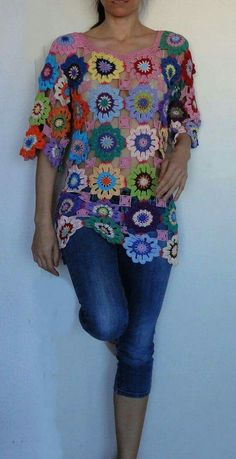 Knit tunic, patches