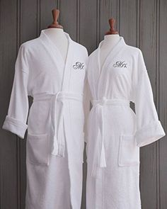 bride and groom robes