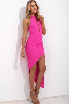 Flux Maxi Dress, Hot Pink, $59 + Free express shipping http://www.hellomollyfashion.com/flux-maxi-dress-hot-pink.html