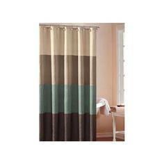 DR International Hampton Hotel Color Block Shower Curtain