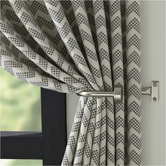Reilly Grey Chevron Curtain Panel - Crate and Barrel Grey Chevron Curtains, Modern Curtains, Patterned Curtains, Blue And Grey Curtains, Curtain Patterns, Curtain Designs, Living Room Decor Curtains, Grey Curtains Bedroom, Rideaux Design