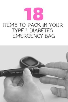 18 Type 1 Diabetes Supplies to Never Leave Home Without Type 1 Diabetes Cure, Diabetes Memes, Diabetes Diagnosis, Beat Diabetes, Cure Diabetes Naturally, Diabetes Awareness, Emergency Bag, Emergency Supplies, Emergency Preparedness