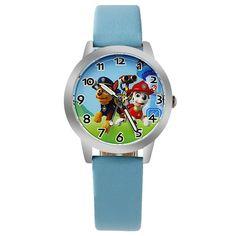 2017 Fashion Children Watch For Boy Leather Strap Wristwatch Student Casual Quartz Watch For   Boy.Kid Lovely Cartoon Watch Cloc