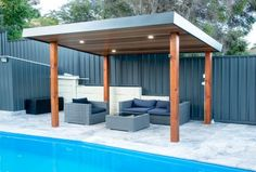 Having a pool sounds awesome especially if you are working with the best backyard pool landscaping ideas there is. How you design a proper backyard with a pool matters. Pool Gazebo, Backyard Pool Landscaping, Backyard Pool Designs, Swimming Pools Backyard, Outdoor Pergola, Backyard Pergola, Patio Design, Outdoor Rooms, Pergola Ideas