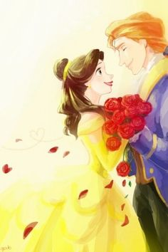 Belle and Adam - beauty-and-the-beast Fan Art