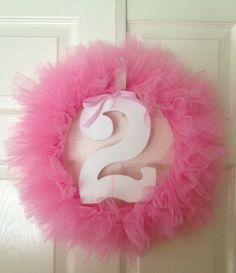 2nd birthday wreath- @jebellflower- this looks like H!