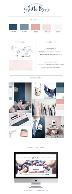 Introduccing Juliette portfolio and eCommerce Genesis Child Theme - Lovely Confetti WordPress Themes