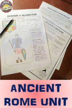 Ancient Rome Unit: This unit contains multiple readings, activities, and worksheets related to ancient Rome. A great unit for middle school or upper elementary students.