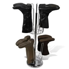 The Bilevel Boot Rack - Hammacher Schlemmer Could make something like it  with wood and paint it a pretty color for wayyyy cheaper 7acbd3924b7d