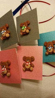 Cute little bear Christmas gift tags.. #christmas https://www.etsy.com/uk/listing/250041990/5-christmas-gift-tags-decorated-with